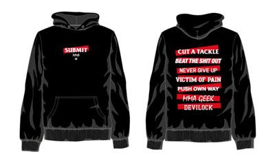 新グッズ『SUBMIT MMA×DEVILOCK Tシャツ&パーカー』を作製します